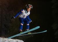Oscar Ø. Mortensen (10)  ski jumping in Schrøderbakken, near the center of Oslo.