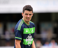 Pictured: Owain Jones of Swansea Saturday 11 July 2015<br /> Re: Merthyr Town FC v Swansea City U21 at the Penydarren Park in Merthyr Tydfil, south Wales, UK.