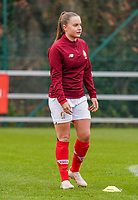 Davinia Vanmechelen (25 Standard) pictured during the warm up before  a female soccer game between Standard Femina de Liege and RSC Anderlecht on the 9th matchday of the 2020 - 2021 season of Belgian Scooore Womens Super League , saturday 12 th of December 2020  in Angleur , Belgium . PHOTO SPORTPIX.BE | SPP | SEVIL OKTEM