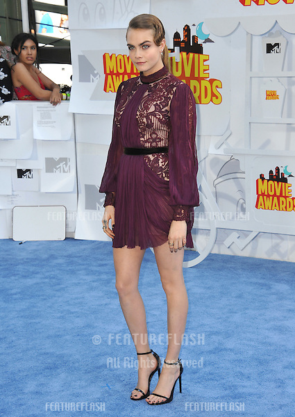 Cara Delevingne at the 2015 MTV Movie Awards at the Nokia Theatre LA Live.<br /> April 12, 2015  Los Angeles, CA<br /> Picture: Paul Smith / Featureflash