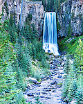 View of Tumalo Falls, on Tumalo Creek, near Bend, Oregon.