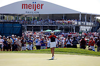 6th September 2021: Toledo, Ohio, USA;  Nelly Korda of Team USA putts on the 14th hole during the singles matches of the Solheim Cup on September 6, 2021 at Inverness Club in Toledo, Ohio.