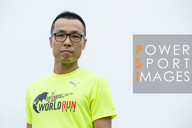 2014 Taiwan Male Champion Chih Chun Li poses for a photograph during the Wings for Life World Run on 08 May, 2016 in Yilan, Taiwan. Photo by Victor Fraile / Power Sport Images