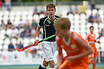 GER - Mannheim, Germany, May 25: During the U16 Boys match between The Netherlands (orange) and Germany (black) during the international witsun tournament on May 25, 2015 at Mannheimer HC in Mannheim, Germany. Final score 3-4 (1-2). (Photo by Dirk Markgraf / www.265-images.com) *** Local caption *** Benjamin Benzinger #14 of Germany