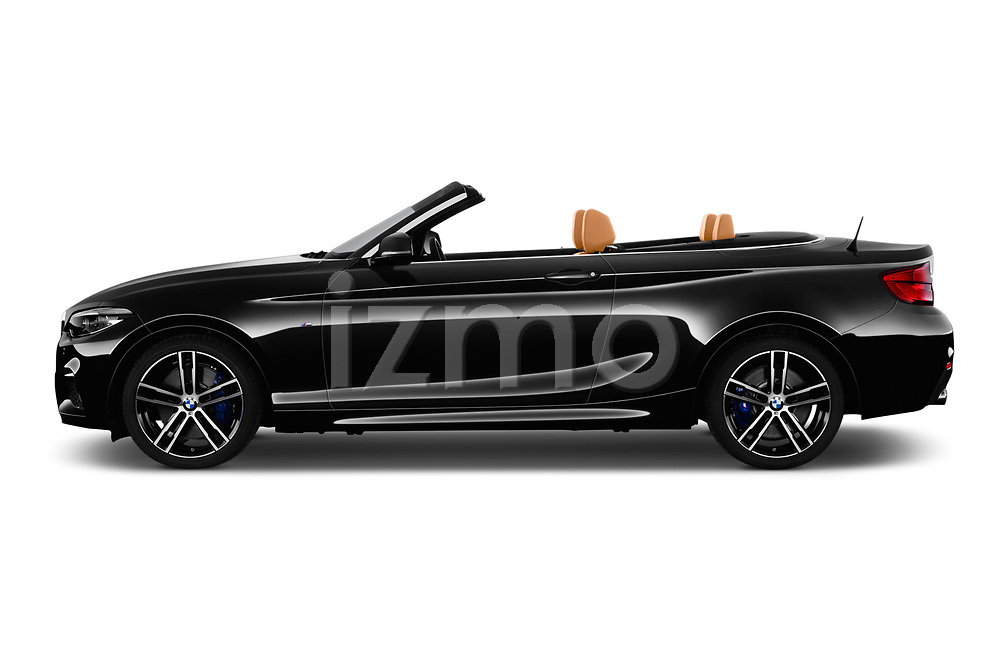Car driver side profile view of a 2018 BMW 2 Series M Sport 2 Door Convertible
