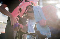 stage winner Daniel Felipe Martínez (COL/EF Education First) post-finish<br /> <br /> Stage 7: Nice to Col de Turini (181km)<br /> 77th Paris - Nice 2019 (2.UWT)<br /> <br /> ©kramon