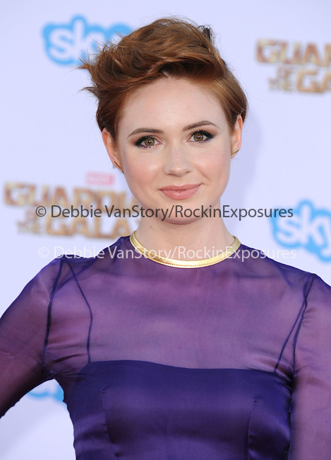 Karen Gillan<br />  attends The Marvel Studios World Premiere GUARDIANS OF THE GALAXY held at The Dolby Theatre in Hollywood, California on July 21,2014                                                                               © 2014Hollywood Press Agency
