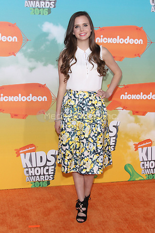INGLEWOOD, CA - MARCH 12: Tiffany Alvord at Nickelodeon's 2016 Kids' Choice Awards at The Forum on March 12, 2016 in Inglewood, California. Credit: mpi24/MediaPunch