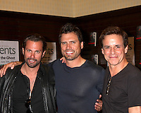 """LOS ANGELES - JUN 21:  Paulo Benedeti. Joshua Morrow, Christian LeBlanc at a booksigning for """"THE YOUNG AND RESTLESS LIFE OF WILLIAM J. BELL"""" at Barnes & Noble - The Grove on June 21, 2012 in Los Angeles, CA"""