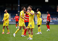 3rd October 2020; Kenilworth Road, Luton, Bedfordshire, England; English Football League Championship Football, Luton Town versus Wycombe Wanderers; Scott Kashket of Wycombe Wanderers in shock after Referee Graham Scott disallows Scott Kashket of Wycombe Wanderers shot for goal