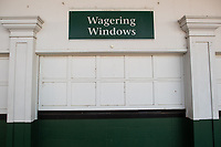 5th September 202, Louisville, KY, USA;  Closed betting windows during the 146th Kentucky Derby on September 5, 2020 at Churchill Downs in Louisville, KY.