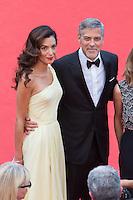 Amal Clooney, actors George Clooney - CANNES 2016 - MONTEE DES MARCHES DU FILM 'MONEY MONSTER'