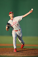 February 21, 2009:  Pitcher Andrew Armstrong (19) of The Ohio State University during the Big East-Big Ten Challenge at Jack Russell Stadium in Clearwater, FL.  Photo by:  Mike Janes/Four Seam Images