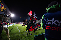 The Crusaders horses ride from the field during the 2021 Super Rugby Aotearoa final between the Crusaders and Chiefs at Orangetheory Stadium in Christchurch, New Zealand on Saturday, 8 May 2021. Photo: Joe Johnson / lintottphoto.co.nz
