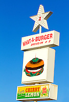 Photography of What-A-Burger #2  at  34 Church Street in downtown Concord, North Carolina. The What-a-Burger drive-in restaurant chain is a popular icon in North Carolina. Photo is part of a photographic series of images featuring Concord, NC, by photographer Patrick Schneider..