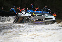 26/12/15<br /> <br /> Doc Brown's flux capacitor gets flooded as his Back To The Future DeLoren capsizes as it plunges over the weir.<br /> <br /> Dozens of competitors are tossed into the Derwent as the extremely swollen river launches rafts, uncontrollably, down a weir along the route of the Boxing Day Race at Matlock Bath in Derbyshire.<br /> <br /> <br /> All Rights Reserved: F Stop Press Ltd. +44(0)1335 418365   www.fstoppress.com.