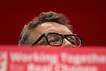 © Joel Goodman - 07973 332324 . 25/09/2016 . Liverpool , UK.  TOM WATSON speaks at the ACC in Liverpool Docks , on the first day of the Labour Party Conference . Photo credit : Joel Goodman