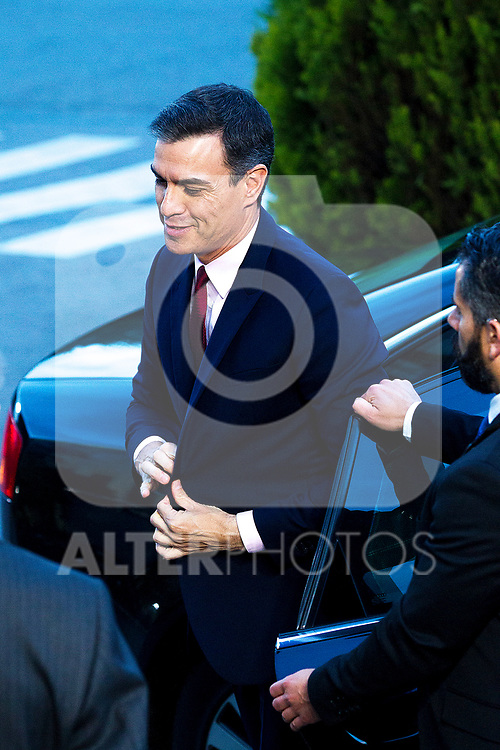 Prime Minister of Spain Pedro Sanchez before the electoral debate organized by Atresmedia television network on April 22, 2019 in Madrid, Spain.(ALTERPHOTOS/Alconada).