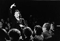 Louise forestier en spectacle, 7 Octobre 1992, aux Francofolies de Montreal.<br /> <br /> PHOTO :  Agence Quebec presse