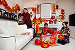 Family prepare for Chinese New Year during lockdown Covid conditions