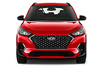 Car photography straight front view of a 2019 Hyundai Tucson N-Line 5 Door SUV