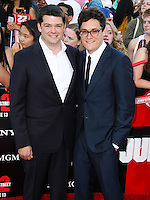 WESTWOOD, LOS ANGELES, CA, USA - JUNE 10: Chris Miller, Phil Lord at the World Premiere Of Columbia Pictures' '22 Jump Street' held at the Regency Village Theatre on June 10, 2014 in Westwood, Los Angeles, California, United States. (Photo by Xavier Collin/Celebrity Monitor)