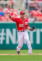 22 September 2013: Washington Nationals shortstop Ian Desmond in action against the Miami Marlins at Nationals Park in Washington, DC. The Marlins defeated the Nationals 4-2 in the first game of their day/night double-header. Mandatory Credit: Ed Wolfstein Photo *** RAW (NEF) Image File Available ***