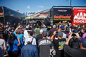 NHRA Mello Yello Drag Racing Series<br /> NHRA Springnationals<br /> Royal Purple Raceway, Houston, TX USA<br /> Sunday 23 April 2017 Troy Coughlin Jr, SealMaster, top fuel dragster, pits, fans<br /> <br /> World Copyright: Mark Rebilas<br /> Rebilas Photo