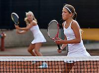 August 9, 2014, Netherlands, Rotterdam, TV Victoria, Tennis, National Junior Championships, NJK,  Girls doubles final: Kim Hansen(R) and Tess Menten (NED)<br /> Photo: Tennisimages/Henk Koster