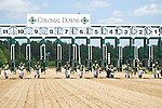 17 June 2012:  Junior Derby entries break from the starting gate in a Fathers Day feature at Colonial Downs, New Kent, Va. (Susan M. Carter/Eclipse Sportswire)