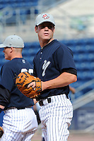 Staten Island Yankees catcher Jeff Farnham (30) during first team workout at Richmond County Bank Ballpark at St. George in Staten Island, NY June 15, 2010.  Photo By Tomasso DeRosa/ Four Seam Images