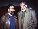 """LELLO ARENA CON ETTORE SCOLA<br /> PRIMA DEL FILM """"FACCIAMO PARADISO"""" ROMA 1995"""