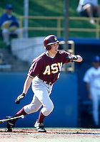 Dan McKinley of the Arizona State Sun Devils during a game at Jackie Robinson Stadium in Los Angeles, California during the 1997 season.(Larry Goren/Four Seam Images)