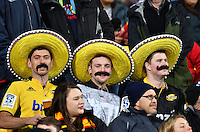 Fans in the grandstand during the Super Rugby semifinal match between the Hurricanes and Chiefs at Westpac Stadium, Wellington, New Zealand on Saturday, 30 July 2016. Photo: Russell Potts / lintottphoto.co.nz