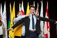 Justin Trudeau<br />  s'adresse a l'Assemblee des premieres Nations <br /> le 2 mai 2018<br /> <br /> <br /> PHOTO : Agence Quebec Presse