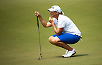 CHON BURI, THAILAND - FEBRUARY 17:  Angela Standford of Australia lines up a putt on the 17th green during day two of the LPGA Thailand at Siam Country Club on February 17, 2012 in Chon Buri, Thailand.  Photo by Victor Fraile / The Power of Sport Images