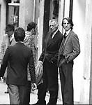GIANNI AGNELLI CON LUCA CORDERO DI MONTEZEMOLO <br /> ROMA 1976