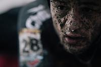 Steve Chainel's (FRA/Chazal-Canyon) post-race face<br /> <br /> Elite Men's race<br /> UCI CX World Cup Namur / Belgium 2017