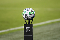 KANSAS CITY, UNITED STATES - AUGUST 25: MLS game ball  a game between Houston Dynamo and Sporting Kansas City at Children's Mercy Park on August 25, 2020 in Kansas City, Kansas.