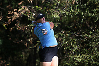 CHAPEL HILL, NC - OCTOBER 11: Krista Junkkari of the University of North Carolina tees off at UNC Finley Golf Course on October 11, 2019 in Chapel Hill, North Carolina.