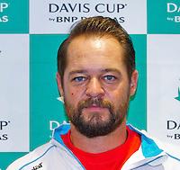 September 10, 2014,Netherlands, Amsterdam, Ziggo Dome, Davis Cup Netherlands-Croatia, Press conference, Croatian team: Captain Zeljko Krajan.<br /> Photo: Tennisimages/Henk Koster