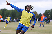 An Inter Lucia player celebrates a goal during an East London Sunday League game at Hackney Marshes - 13/09/09 - MANDATORY CREDIT: Gavin Ellis/TGSPHOTO - Self billing applies where appropriate - Tel: 0845 094 6026