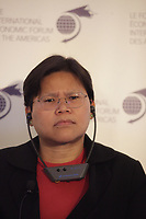 The Director of the European Union Centre in Singapore <br /> Lay Hwee Yeo<br /> attend the International Economic Forum of the Americas 20th Edition, from June 9-12, 2014 <br /> <br />  Photo : Agence Quebec Presse - Pierre Roussel