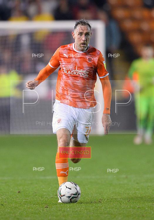 24/08/2021 Carabao Cup 2nd Round Blackpool v Sunderland <br /> <br /> Richard Keogh, Blackpool FC