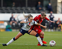 Josie Green of Tottenham  and Jess Fishlock of Reading during Tottenham Hotspur Women vs Reading FC Women, Barclays FA Women's Super League Football at the Hive Stadium on 7th November 2020