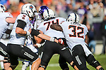 Oklahoma State Cowboys running back Chris Carson (32) in action during the game between the Oklahoma State Cowboys and the TCU Horned Frogs at the Amon G. Carter Stadium in Fort Worth, Texas.