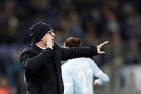 Calcio, Serie A: Lazio - Genoa, Roma, Stadio Olimpico, 5 Febbraio 2018. <br /> Genoa's coach Davide Ballardini speaks to his players during the Italian Serie A football match between Lazio and Genoa at Rome's Stadio Olimpico, February 5, 2018.<br /> UPDATE IMAGES PRESS/Isabella Bonotto