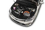 Car Stock 2018 Toyota Avalon XLE Premium 4 Door Sedan Engine  high angle detail view