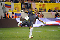 Ecuador goalkeeper Maximo Banguera (1). The men's national team of the United States (USA) was defeated by Ecuador (ECU) 1-0 during an international friendly at Red Bull Arena in Harrison, NJ, on October 11, 2011.