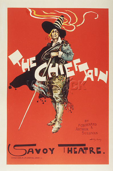 Reproduction of a poster advertising 'The Chieftain', Savoy Theatre, 1895 (colour litho), Hardy, Dudley (1867-1922)